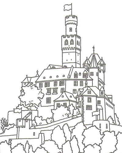 Great Castles Coloring Book